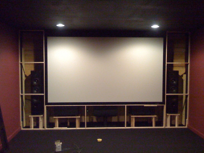 Panasonic pt ax200u home theater by carl slaughter - Home theater screen wall design ...