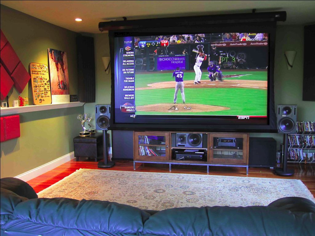 Home tv projection system