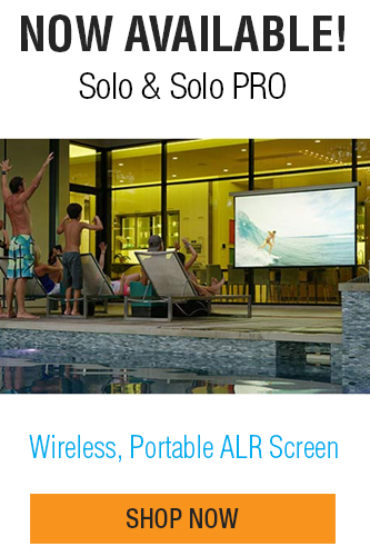 Check out the new battery operated motorized screen from Screen Innovations - Solo