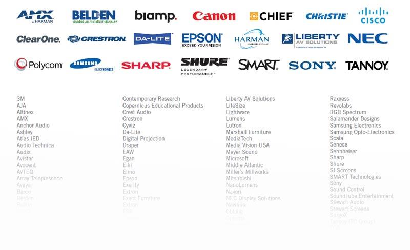 AVI-SPL manufacturer line card
