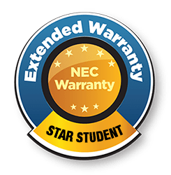 NEC extended warranty for schools