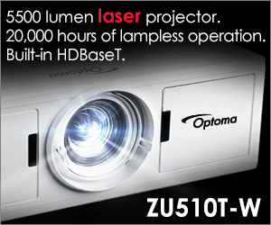 Optoma ZU510T-W Laser projector with built-in HDBaseT