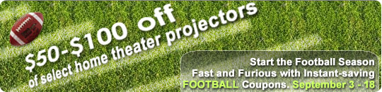 Football Projector Coupons available