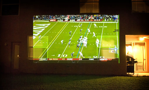 Outdoor Amp Backyard Theater Guide Projector People