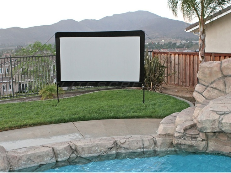 Multiple screens used in a football outdoor theater