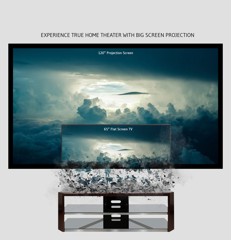 big screen projection is the best choice for entertainment immersion